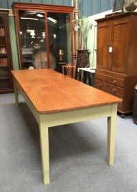 Large 10ft Pine Kitchen Table - Antiques Atlas