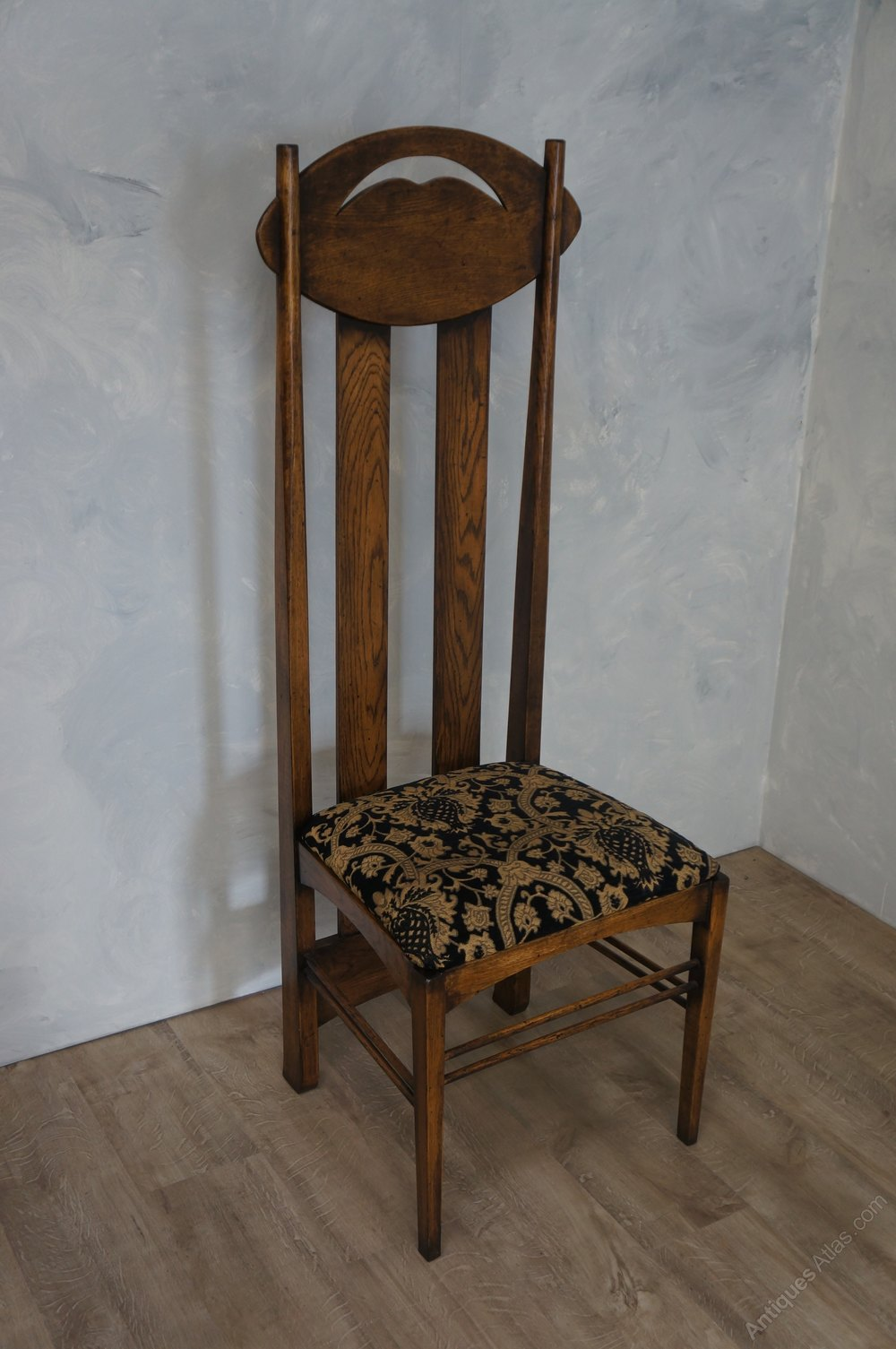 dining room chair bottom covers image early 20th century 6 mackintosh argyle chairs - antiques atlas