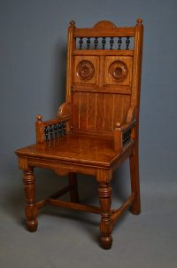 Arts And Crafts Chair In Pollard Oak - Antiques Atlas
