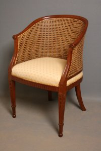 Late Victorian Bergere Chair In Mahogany - Antiques Atlas