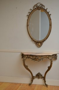 Console Table - Hall Table With Mirror - Antiques Atlas
