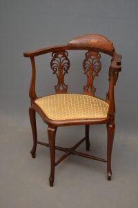Edwardian Corner Chair - Antiques Atlas