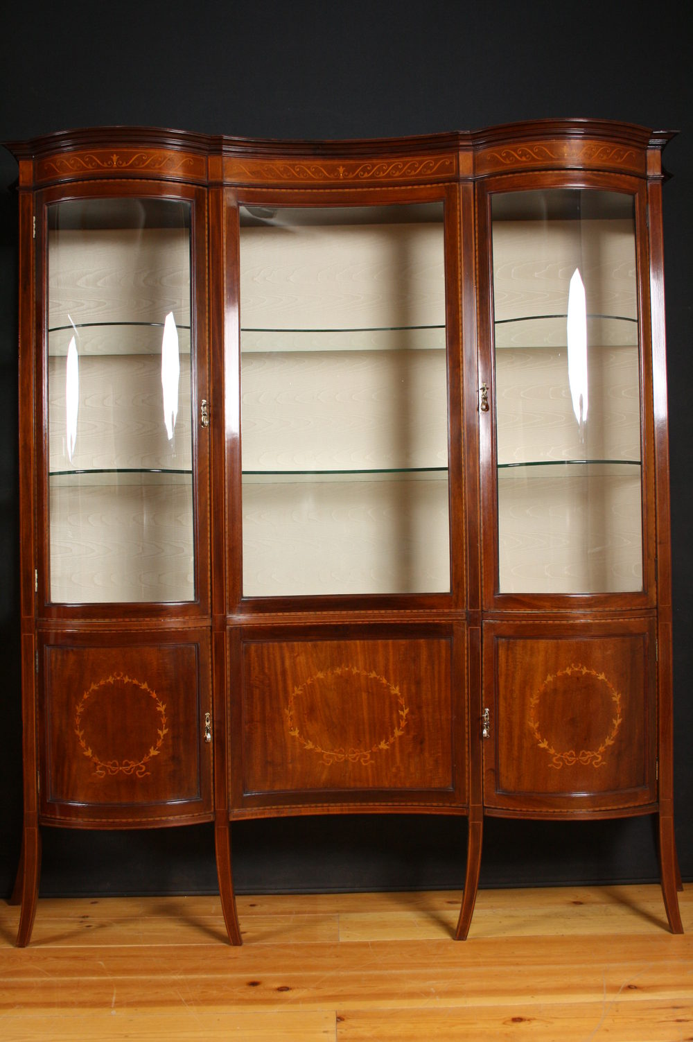 Edwardian Display Cabinet  China Cabinet  Antiques Atlas