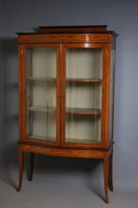 Edwardian Display Cabinet - Antiques Atlas