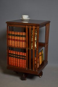 Edwardian Revolving Bookcase - Antiques Atlas