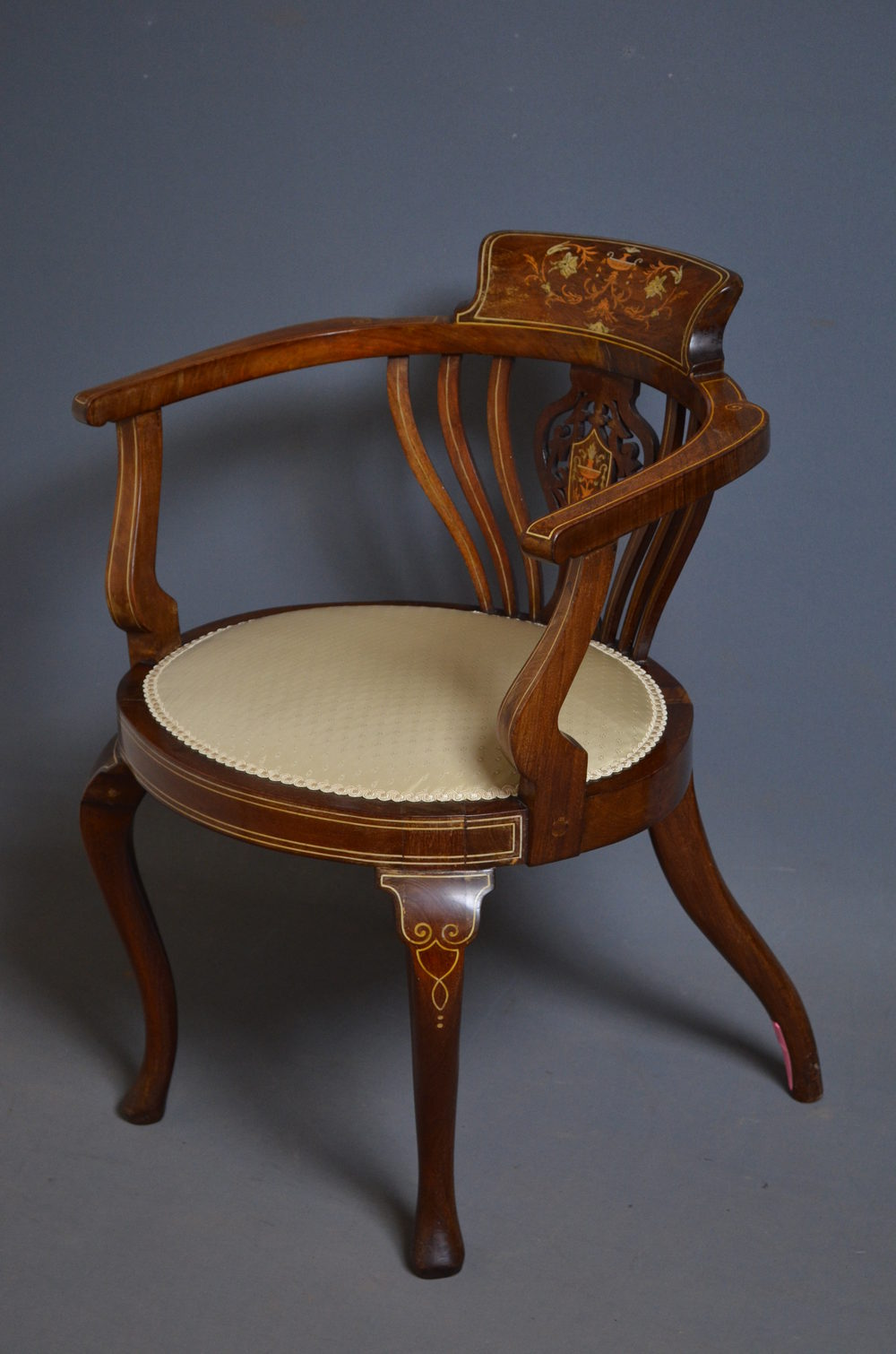 oval back dining chairs upholstered arm chair edwardian - mahogany armchair antiques atlas