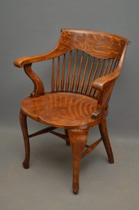 Pair Of Victorian Office Chairs - Antiques Atlas