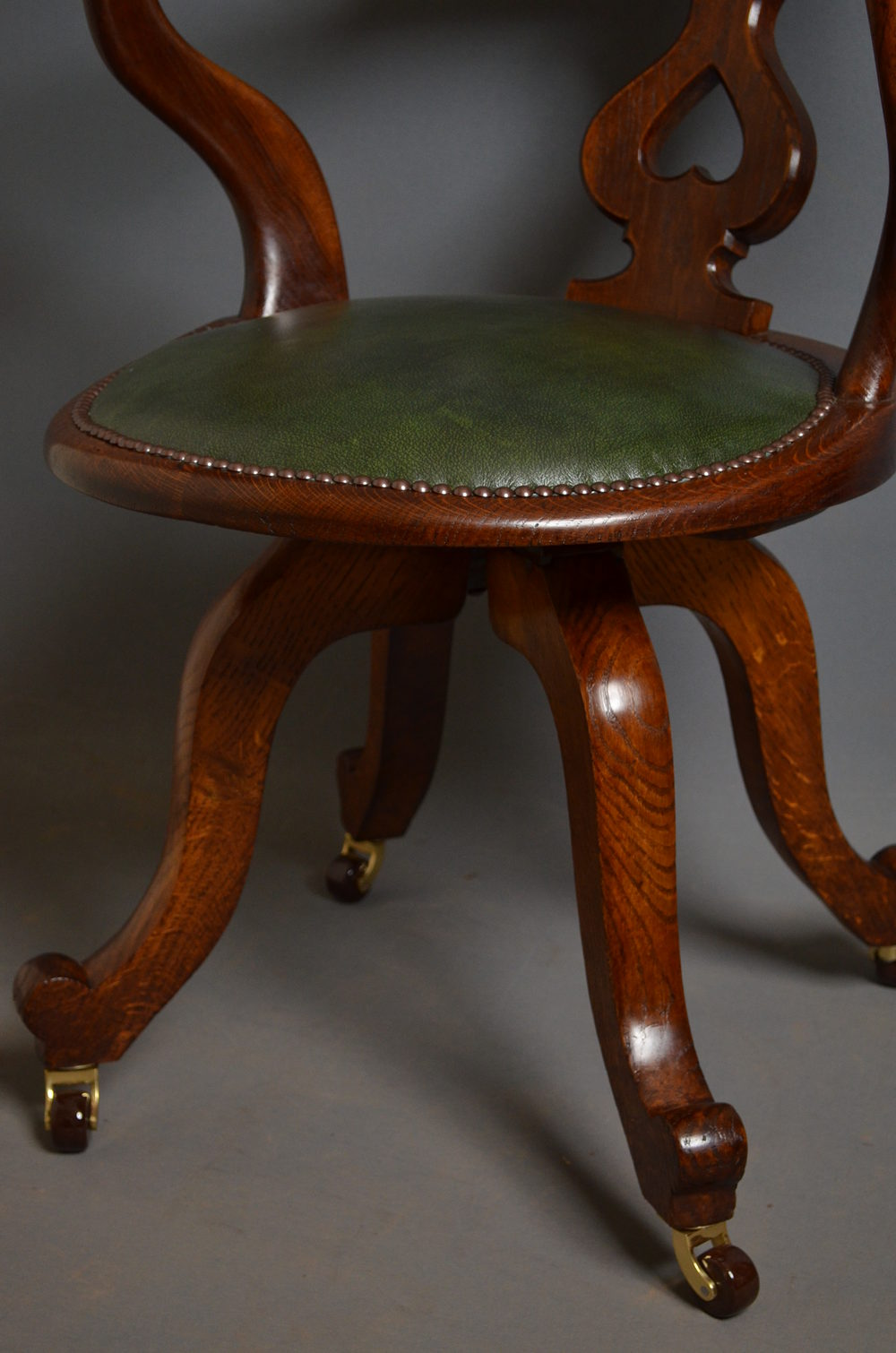 revolving chair and folding umbrella victorian office by edwards & roberts - antiques atlas