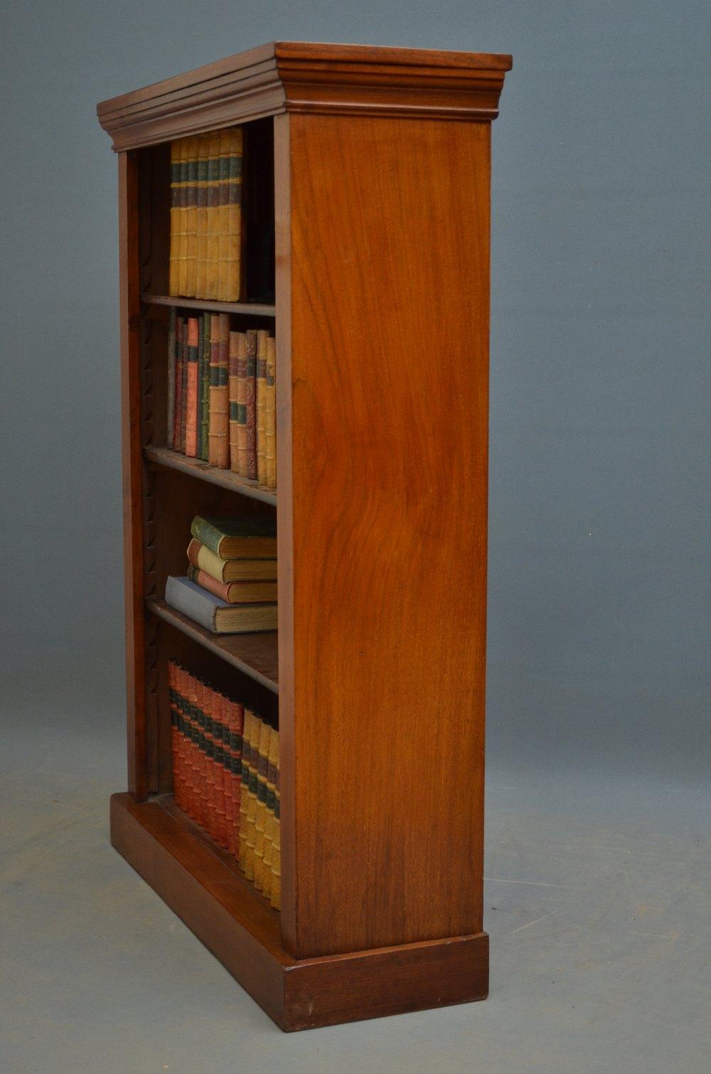 Small Victorian Open Bookcase In Walnut  Antiques Atlas