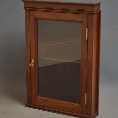 Corner Cabinet For Kitchen Lowes Pantry Small Wall Hanging Display - Antiques Atlas