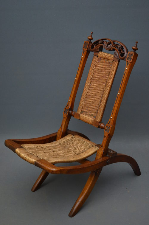Victorian Folding Chair  Antiques Atlas
