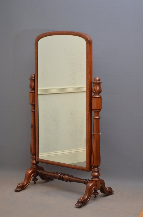 Antiques Atlas - Victorian Mahogany Cheval Mirror