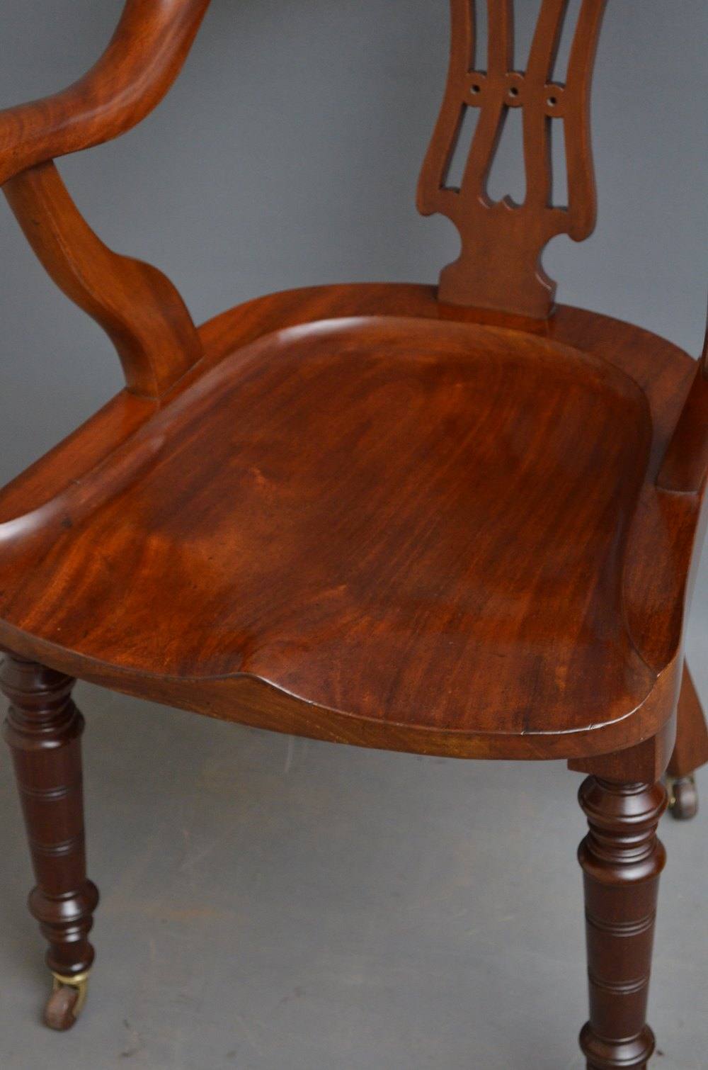 Victorian Mahogany Office Chair  Desk Chair  Antiques Atlas