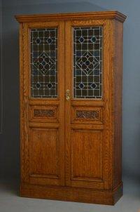 Victorian Oak Hall Cupboard