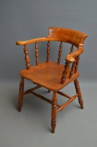 Victorian Smokers Bow - Captain Chair - Antiques Atlas