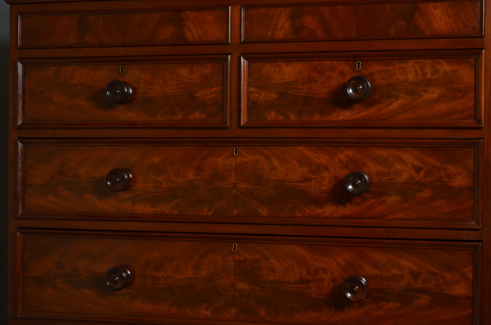 Early Victorian Tall Boy Chest Of Drawers  Antiques Atlas