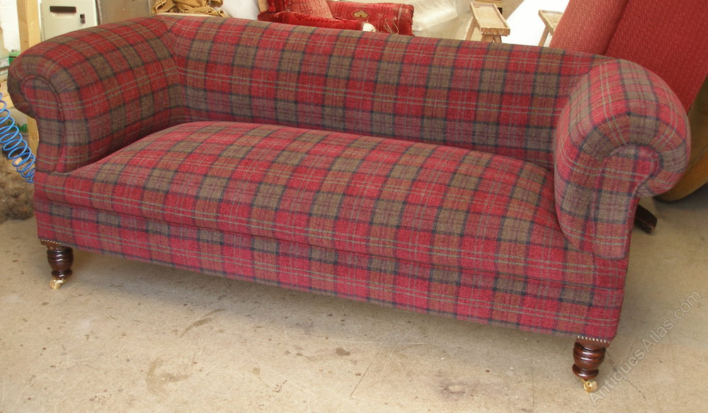 tartan chesterfield sofa stretch to fit covers australia victorian 3str antiques atlas antique settees and sofas