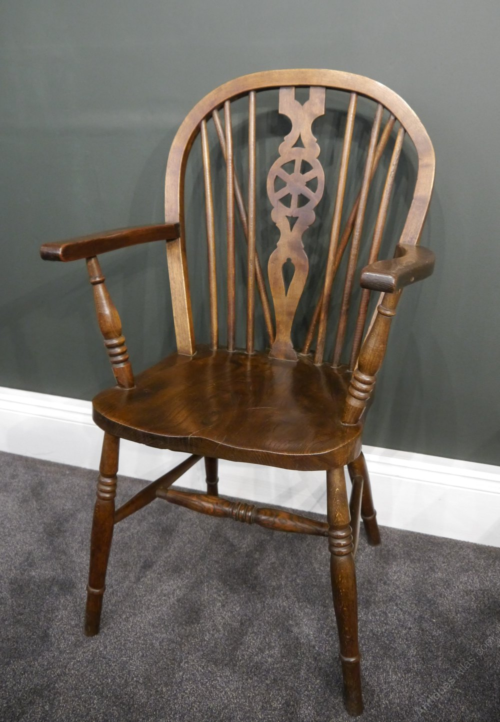 Pair Of Oak Windsor Chairs  Antiques Atlas