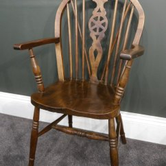 Wheel Chair For Sale How Much Does A Gaming Weigh Pair Of Oak Windsor Chairs - Antiques Atlas