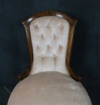 Victorian Walnut Nursing Chair - Antiques Atlas