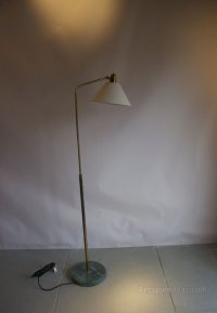 Antiques Atlas - Adjustable Floor Lamp With Marble Base