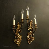 Antiques Atlas - French Pair Of Gilded Antique Wall Sconces