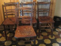 Set Of 4 Wooden Kitchen / Dinning Room Chairs - Antiques Atlas