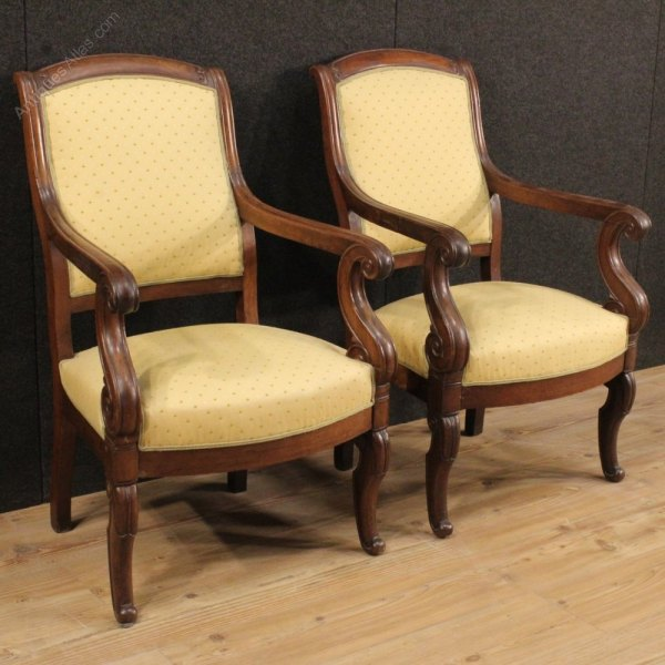 French Antique Empire Arm Chair