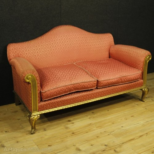 century furniture sofa quality microsuede review antiques atlas 20th spanish in golden wood