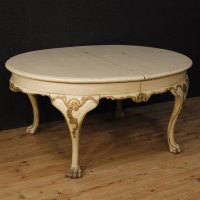 Antiques Atlas - Dutch Dining Table In Lacquered And Gilt Wood