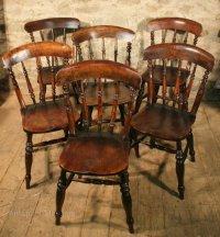 6 Kitchen Chairs - Antiques Atlas