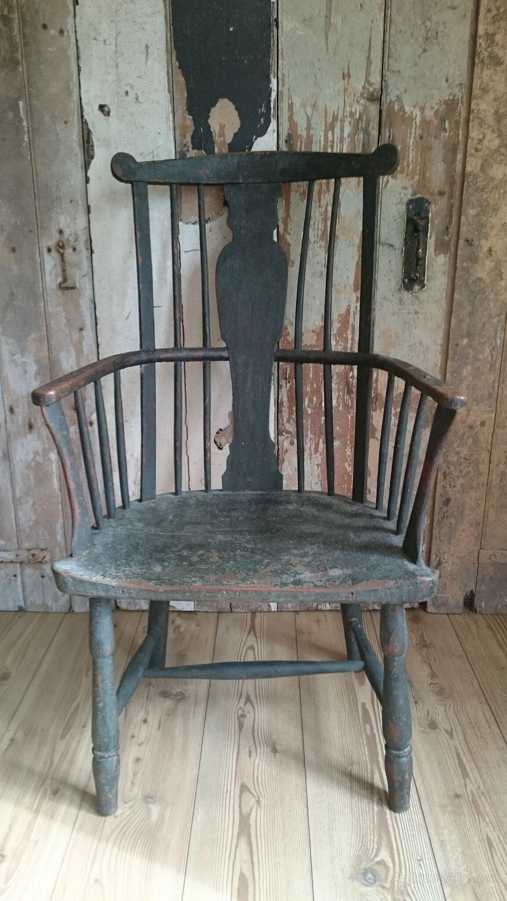 Primitive Comb Back Chair  Antiques Atlas