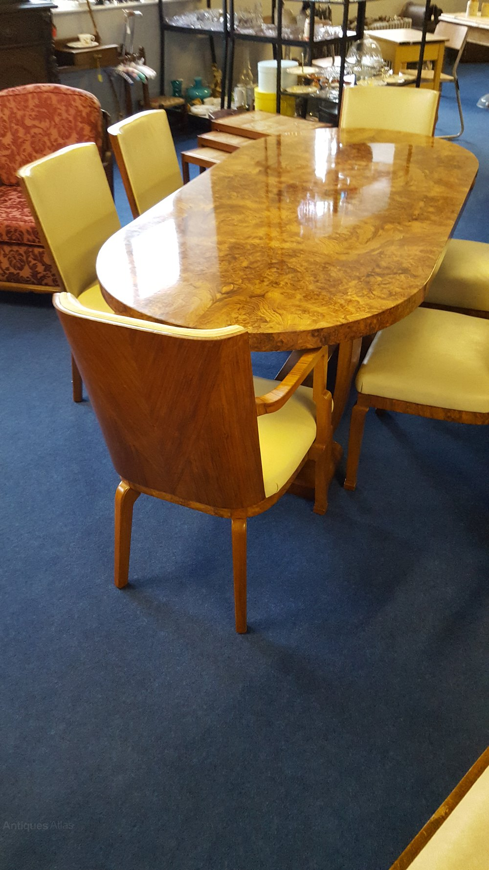 Art Deco Dining Chairs Superb Walnut Art Deco Dining Suite C 1925 35