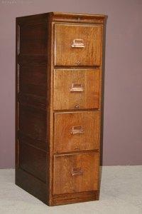 1920's Oak 4 Drawer Filing Cabinet - Antiques Atlas
