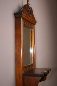 Antiques Atlas - Victorian Wall Mounted Shaving Mirror.