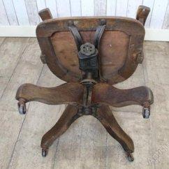 Revolving Chair Mechanism Height Stools Edwardian Swivel Office In Oak Antiques Atlas Alt5