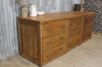 Large Victorian Pine Chest Of Drawers - Antiques Atlas