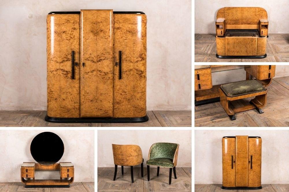 Original 7 Piece Art Deco Bedroom Suite Antiques Atlas