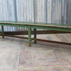 Pine Kitchen Bench Grey Chairs Vintage Wooden Restaurant Antiques Atlas