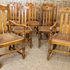 Antique Oak Dining Chairs Pub Style Set Of 10 Edwardian Antiques Atlas