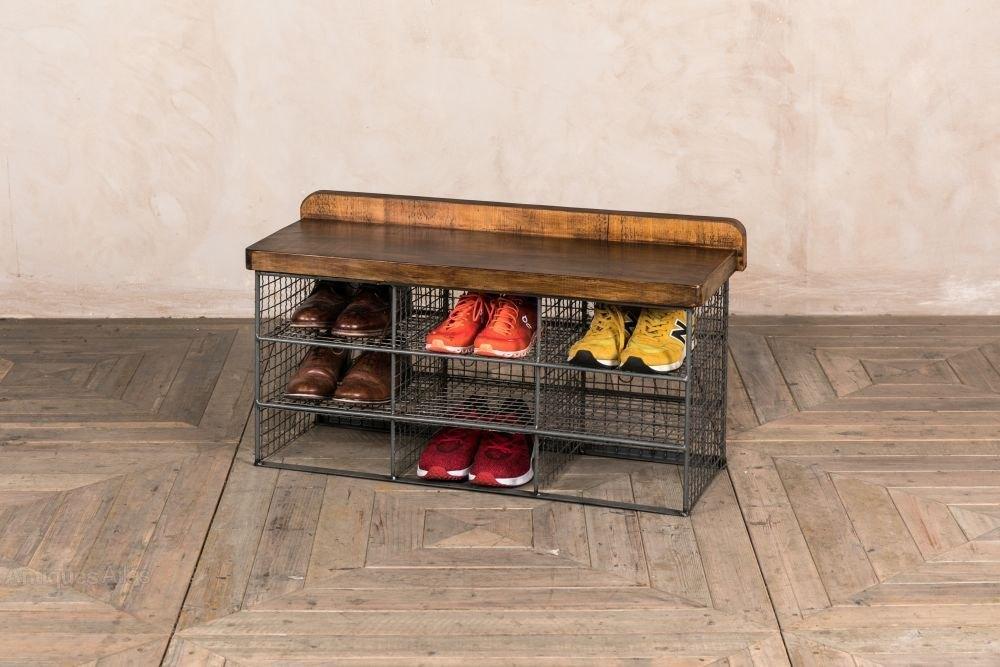 small vintage shoe storage rack