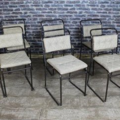 Upholstered Stacking Chairs Directors Chair Canvas Antiques Atlas School