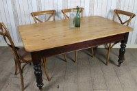 Victorian Pine Kitchen Table - Antiques Atlas