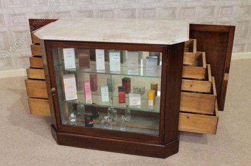 Victorian Mahogany Perfume Cabinet Haberdashery  Antiques