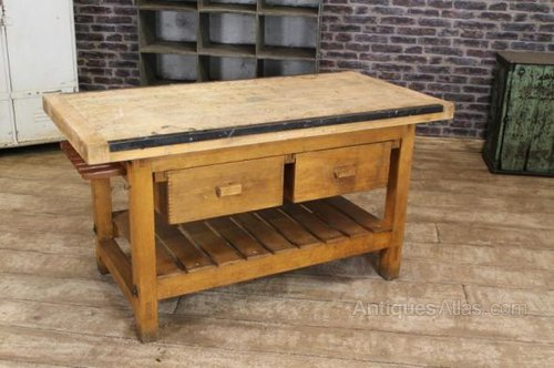 kitchen work tables shelving for antiques atlas vintage island bench table