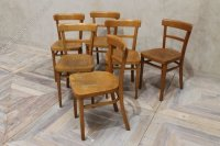 Antiques Atlas - Wooden Kitchen Chairs Vintage Cafe Chairs ...