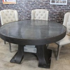 Zinc Kitchen Table The Fat Burning Antiques Atlas Top Round Dining Vintage