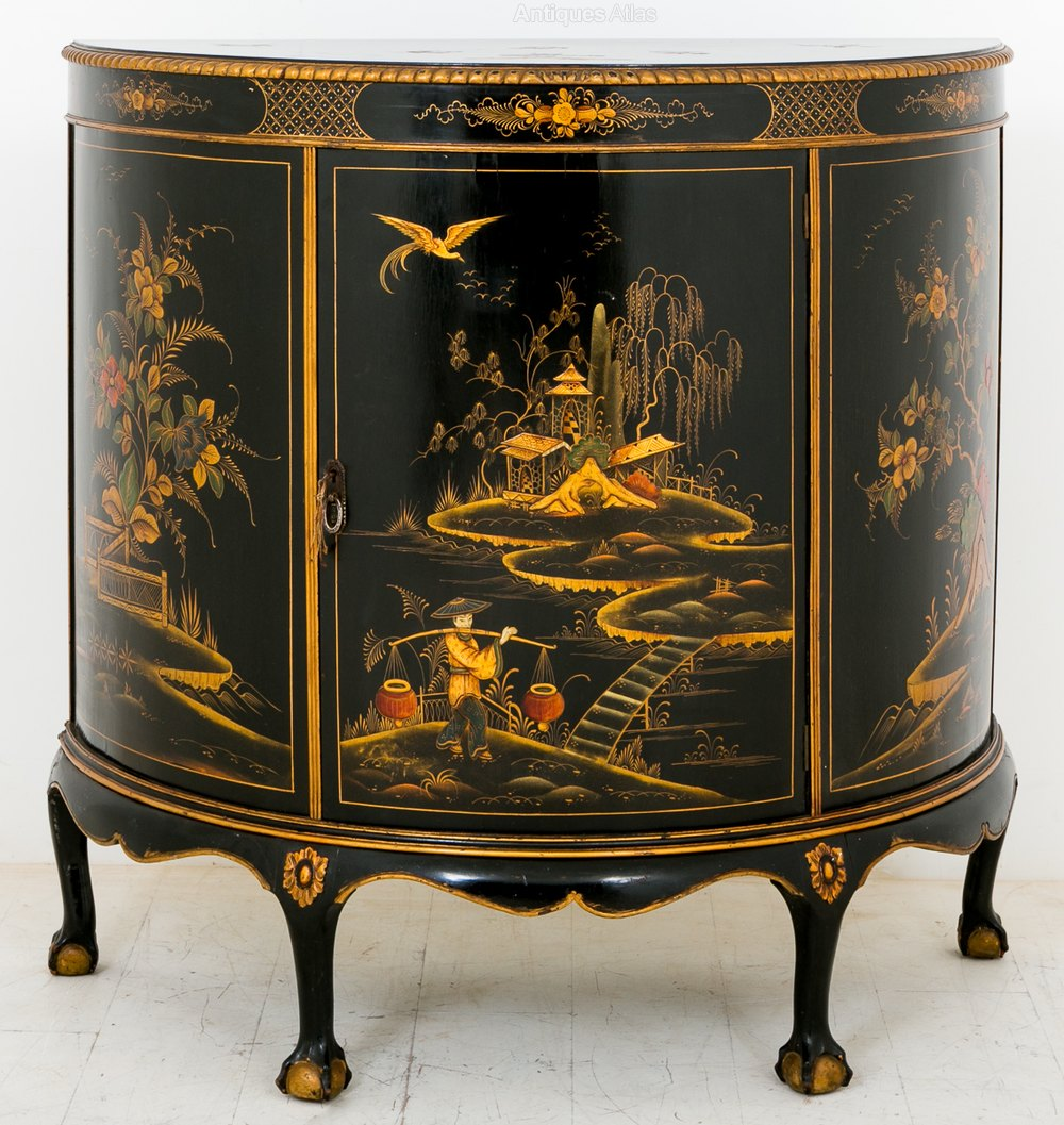 Chinoiserie Side Cabinet  Antiques Atlas