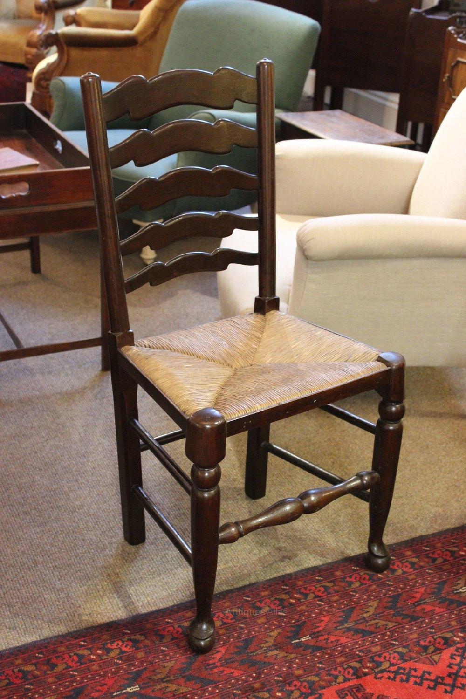 Set Of 6 19thc Oak Ladder Back Chairs  Antiques Atlas