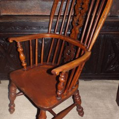 Wood High Chair For Sale Fishing Chairs With Rod Holders Fine 19thc Yew Back Windsor C1860 - Antiques Atlas